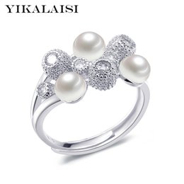 Ring Pearl Celtic Australia - ring YIKALAISI 925 Sterling Silver Natural Freshwater Pearl Fashion Ring Jewelry For Women Interlaced Rings 6-7mm Pearl