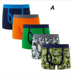 Discount hot boys boxers - Hot Boy's boxer shorts underwear cotton boy's boxers high quality camouflage children panties 5pcs set factory