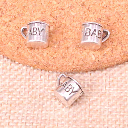 Silver Cup Mug Australia - 118pcs Charms baby mug cup cann Antique Silver Plated Pendants Fit Jewelry Making Findings Accessories 12mm
