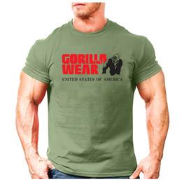 Großhandel 2019 T-Shirts Männer Kurzarm T-Shirt Männer Gorilla WEAR Druck Sweatshirt Herren Casual Brand Clothing Pullover TopsTees