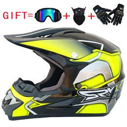 Motorcycle Helmets Yellow Color Australia - Motorcycle Helmet Full Face Motocross Helmet Capacete De Moto Off Road Motorbike Racing Clear Lens Shield Moto Equipment