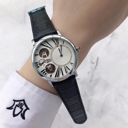 $enCountryForm.capitalKeyWord NZ - Top quality! Brand Men Luxury Watches Dress Genuine Leather Automatic Wrist Watch All small dials work For mens gift Water Resistant Clock