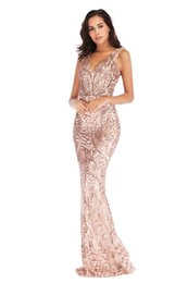 $enCountryForm.capitalKeyWord Australia - Bling Gold Sequins Mermaid Prom Dresses 2019 Spaghetti Open Back Ruffles Sweep Train Evening Gowns Pageant Dress Formal Custome
