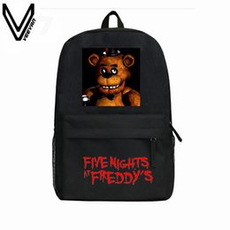$enCountryForm.capitalKeyWord Australia - Wholesale- 2016 Hot Sale Five Nights At Freddy's Backpacks For Children Freddy Chica Foxy FNAF Cartoon School Backpacks Kids Favourite Bags
