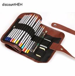 $enCountryForm.capitalKeyWord Australia - Cute Pencil Pencilcase Pencil Bag 36 48 72 Holes Canvas Roll Pouch Makeup Case School Supplies Stationery Gift School