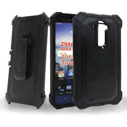 screen blu UK - For BLU R1 HD Defender Protective Holster Belt Clip Kickstand Built In Screen Protector Crystal Rugged Back Case Cover