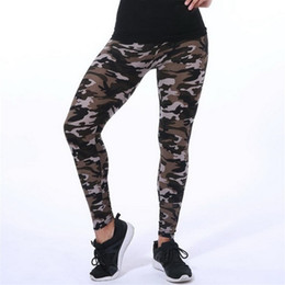 Black Milk Leggings Sizing Australia - 2019 VISNXGI New Fashion Camouflage Printing Elasticity Leggings Camouflage Fitness Pant Legins Casual Milk Legging For Women