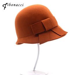 cd522002440 Female Felt Hats UK - Fibonacci Brand Quality Autumn Winter Female Fedoras  Irregular Brim Wool Felt