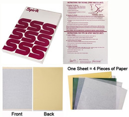 Discount spirit paper - Tattoo Transfer Paper A4 Size Spirit Master Tatoo Paper Thermal Stencil Carbon Copier Paper For Tattoo Supply 100 Sheets