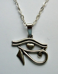 Egyptian Horus Pendant Australia - Vintage Bronze Silver Gothic Eye of Horus Egyptian Necklaces Choker Long Chain Necklaces&Pendants For Women Gift Bijoux DIY Jewelry