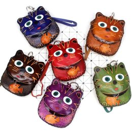 $enCountryForm.capitalKeyWord UK - Leather Zippered 3D Owl Coin Purse Handcrafted Change Pouch Purse Wrist Clutch with Keyring for Women   Girls