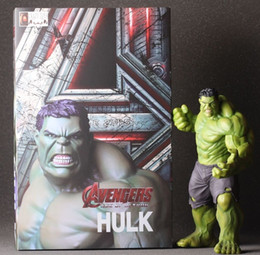 Limited Action Figures NZ - [ TOP] Limited 24CM The Avengers 2 Hulk the base luminous Doll Car Home Interior PVC Action Figure model Collection Toy gift