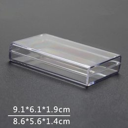 fast card UK - Clear Box Sealed Package Display Plastic Rectangular Playing Cards Business Card Storage Box Fast Shipping NO345