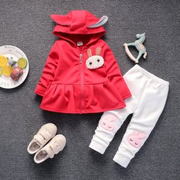 Infant Girls Tracksuits Australia - good quality new girls clothing sets baby spring autumn cotton long sleeve clothes Infant hoodie suit 2pcs girls tracksuit sets