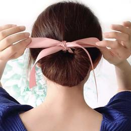 $enCountryForm.capitalKeyWord Australia - Fashion Magic Tools Elastic Hair Braiders Foam Sponge Messy Donut Bun Hairstyle Bows Headwear Accessories Women Lady Girl