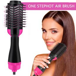 Опт Один шаговый фен и объемный материал, Mankami Salon Hot Air Praddle Styling Щетка отрицательный ион генератор для волос выпрямитель для волос CURLER
