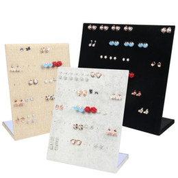 $enCountryForm.capitalKeyWord Australia - Flannel Jewelry Box Jewelry Display Earrings Stud Necklace Pendant Storage Showcase Rack Case Board Gift T190629