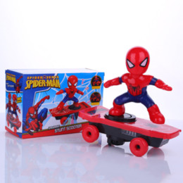 $enCountryForm.capitalKeyWord Australia - RC Skateboard Spiderman Scooter Never Fall Down Genuine Light Sound Toys Flash Cool Electronic Electric Toy For Kids toys Gift PartyRC Skate