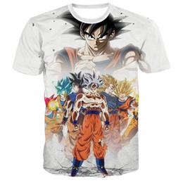 Discount t shirt vegeta - 2019New Z T Shirts Men Ultra Instinct Kids Goku Vegeta Printed Cartoon T-Shirt Top Tees Plus Size