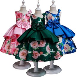 $enCountryForm.capitalKeyWord Australia - Baby Girl Princess Flower Big Bow Dresses for Wedding Party Elegant Kids Dresses for Toddler Girl Children Christmas Clothing
