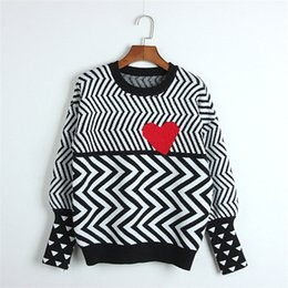 d4e9e3f18c8bdf 2019 Autumn Winter Women Sweaters Geometric Heart Pattern Long Sleeve Tops  Lovely Pullovers Knitted Loose Sweaters Tops C-005