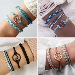 $enCountryForm.capitalKeyWord Australia - Boho Hand Weave Braided Bracelets for Women Bohemian Vintage Cotton Rope Cheap Ethnic Charm Bracelets Jewelry
