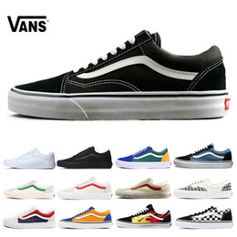 Van Shoes Women Canada - VANS Fear of God Old Skool Authentic Canvas Skate Shoes Mens Women Casual Shoes Running Shoes Trainers Sports Sneakers Size 36-44