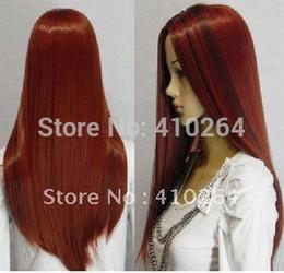 $enCountryForm.capitalKeyWord Australia - Fine free shipping New Cosplay long dark red &dark brown mixed straight Hair wig