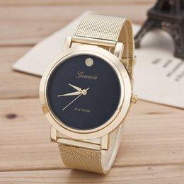 $enCountryForm.capitalKeyWord Australia - Ladies Luxury Ladies Watch Stainless Steel Dot Disc Steel Belt Watch Metal Mesh Belt Wrist Bracelet