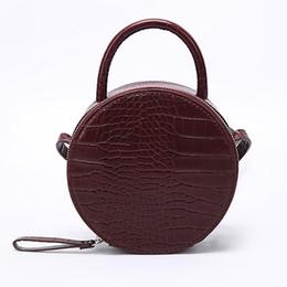 Crocodile Hand Bags Australia - Brand Crocodile Pattern Women Handbag Leather Small Round Bag Designer Shoulder Messenger Bag Evening Clutch Lady Hand Bags 2019