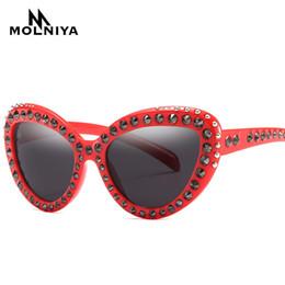 4fdf243f77a79 2019 Luxury Rhinestone Sunglasses Women Trendy Oversized Sun Glasses Retro Brand  Designer Ladies Mirrror Eyeglasses UV400