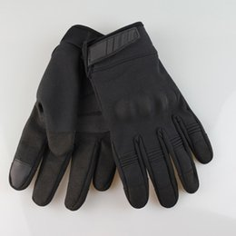 leather gloves long finger men Australia - A24 Cycling Long Finger Gloves Touch Screen Bicycle Mittens Comfortable Motorbike Protecting Gloves Durable Cycling Equipment