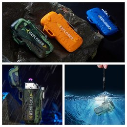 $enCountryForm.capitalKeyWord Australia - Colorful Intelligent Waterproof USB Charging Double ARC Lighter Portable Sling Rope Innovative Design For Cigarette Smoking Pipe Tool