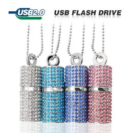 32g drives UK - Color Silver usb Flash Drive 4G 8G 16G 32G Pen drive U Disk Cylinder Bamboo Pendrive rectangle USB 2.0 memory stick
