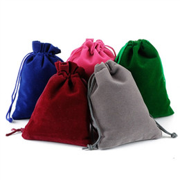 Christmas Small Gift Bag NZ - 7x9cm(2.75 x 3.5 inch) Small Velvet Favor Drawstring Bags Jewelry Bag Christmas Wedding Party Gift Bags Multi Color Jewelry Pouch