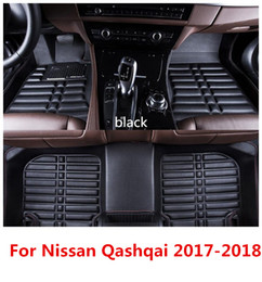 interior carpet NZ - For Nissan Qashqai 2017-2018 PU floor Fully surrounded mat carpet car interior leather pad car mat Car Special waterproof pad Black white