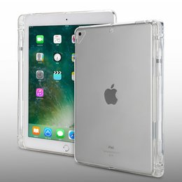 $enCountryForm.capitalKeyWord Australia - Clear Case For ipad mini Air Pro 2 3 4 5 2018 2019 12.9 Soft TPU back cover with pen holder