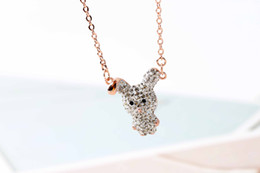 Chain Counter NZ - LITTLE cute rabbit necklace female clavicle chain Valentine's Day gift for girlfriend with counter full package and exclusive counter scan