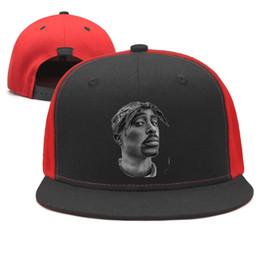 ab2b225f Rapper 2Pac Cool Actor Design Snapback Flat Bill Brim Baseball Cap Hip-Hop  Sun Hats Adjustable Cute