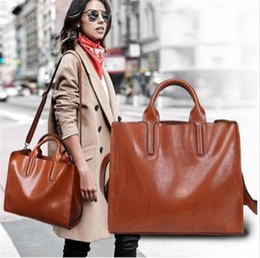 Burgundy Leather Bag Australia - Brand New Shoulder Bags Oil wax Leather Luxury Handbags Wallets High Quality For Women Bag Designer Totes Messenger Bags Cross Body