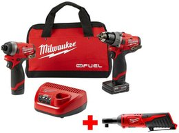 Wholesale Milwaukee M12 Fuel Cordless Hammer Drill Impact Driver Combo Kit Power Tool Set
