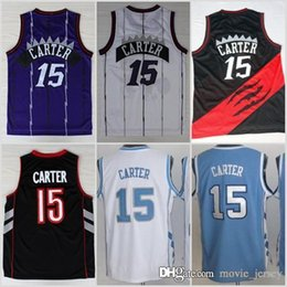 626f68bc356d Toronto New  15 Carter Raptors Vince Basketball Jerseys North Carolina Tar  Heels College Carter Jersey Vince Blue Black White Purple