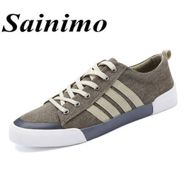 $enCountryForm.capitalKeyWord NZ - Men Casual Shoes Canvas Shoes Sneakers Leisure Lace-Up Classic Men Breathable Driving Fashion Flat Zapatos Hombre