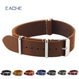 $enCountryForm.capitalKeyWord NZ - strap 20 EACHE High Quality Vintage Genuine Leather Nato watch Straps Watchband for Military Watch 18 20mm 22mm wholesales
