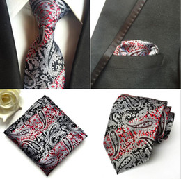 $enCountryForm.capitalKeyWord Australia - Men Neck Tie Set Paisley Necktie Silk Tie Wedding Accessories British Style Suit Business Tie Hanky Square Scarf Set