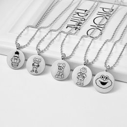 chains anime Australia - Chains Necklaces Pendant Necklaces Circle Necklaces Anime Movie Ponyo on the Cliff Valentine's Day Couple gift Custom Logo Coin JJ19803
