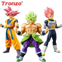 Banpresto Figures Australia - Tronzo Original Banpresto Action Figure Dragon Ball Super Broly Full Power Goku Vegeta Red Hair PVC Figure Model Toys in Stock Y190529