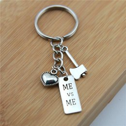 Strength Jewelry NZ - 2019 new Letters Key Chain Zinc Alloy Silver Heart Keychain Jewelry I CAN, I CHOOSE STRENGTH Keyring Couple Birthday Day Gifts