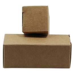 Plastic Handmade Pack Australia - Folding Brown Kraft Paper Storage Pack Box Lipstick Perfume Sample Storage Box Plastic Dropper Essential Oil Bottle Package Box 5 Sizes