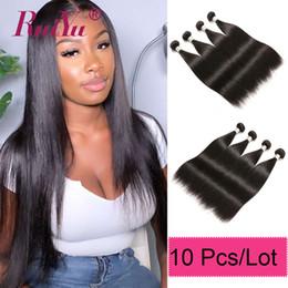 $enCountryForm.capitalKeyWord Australia - Wholesale 10 Bundles Raw Indian Virgin Hair Brazilian Human Hair Weave Bundles Straight Body Loose Deep Wave Hair Extensions Vendor